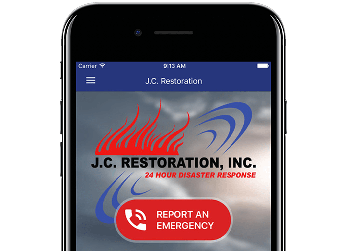 jcr emergency mobile app on phone