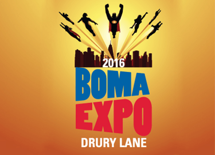2016 BOMA EXPO Superhero flyer