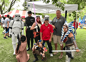 jc restoration employees with Star Wars characters