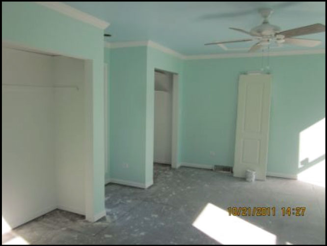 repairing residential bedroom after fire damage