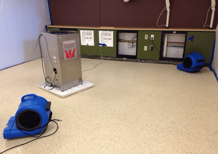 fixing water damage in medical office