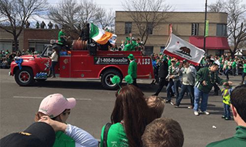 float at st. patricks day event