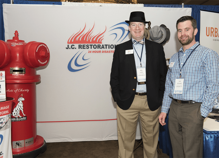 jc restoration staff tradeshow booth