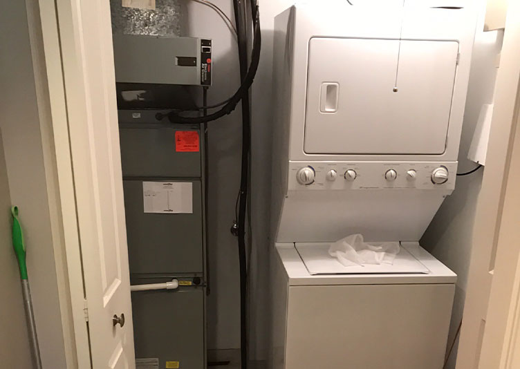 faulty washing machine within condo unit