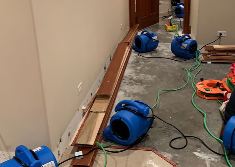interior of home with drying equipment