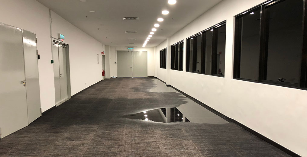 building in need of water damage restoration in orland park, il