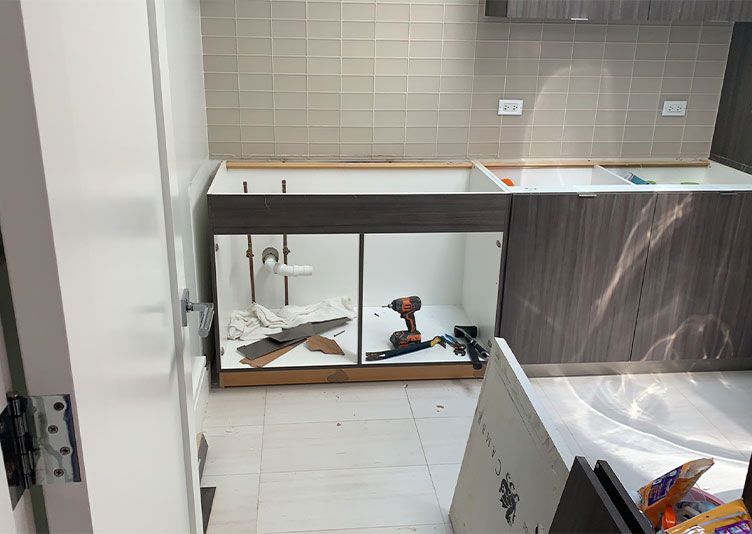 kitchen in Chicago home with water damage
