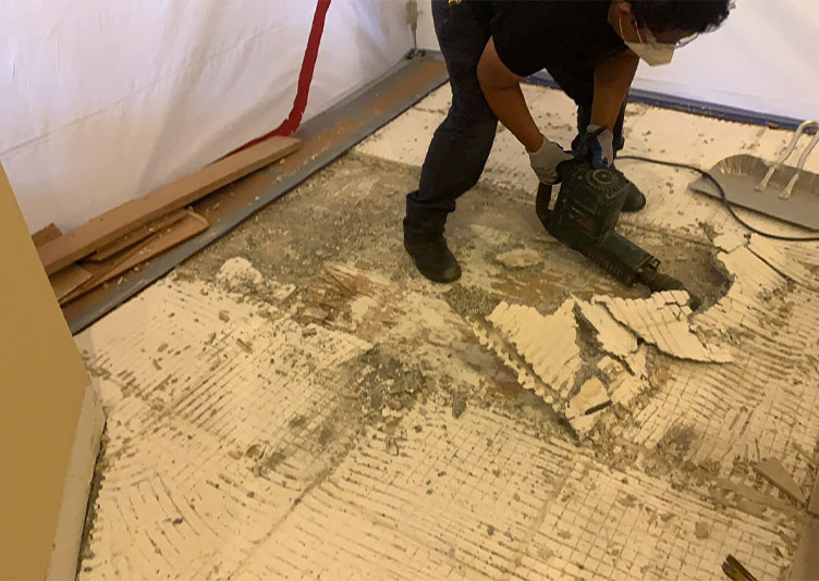 Water damage remediation at Shorewood, IL home